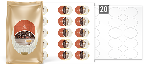Oval Labels For Printing On A3 Sheets