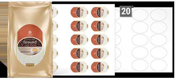 Étiquettes Ovales Étiquettes Pour Impression Sur Feuilles A3