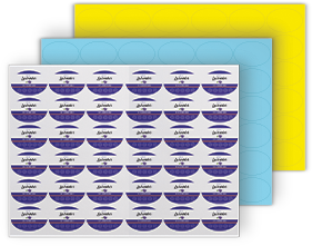 Oval Labels For Printing On Sra3 Sheets
