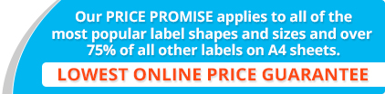 50% reduction on printed labels