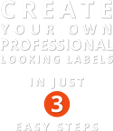 Create your own professional looking labels